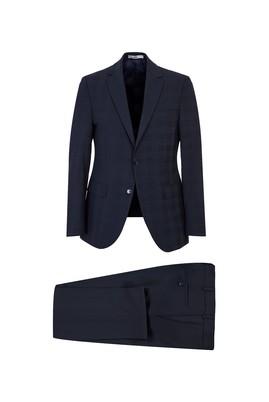 Erkek Giyim - KOYU LACİVERT 52 Beden Slim Fit Takım Elbise