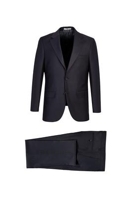 Erkek Giyim - KOYU ANTRASİT 56 Beden Klasik Takım Elbise