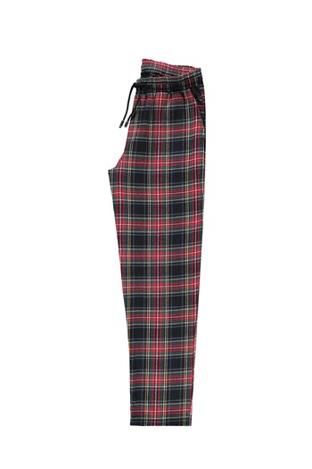 Erkek Giyim - Ekose Flanel Pijama Altı