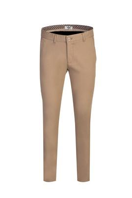 Erkek Giyim - ORTA BEJ 56 Beden Slim Fit Kuşgözü Spor Pantolon