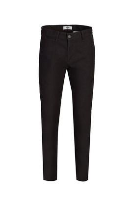 Erkek Giyim - AÇIK SİYAH 46 Beden Slim Fit Desenli Spor Pantolon