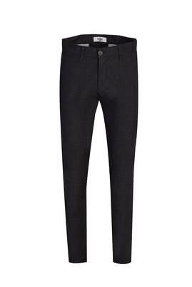 Erkek Giyim - SİYAH -1 46 Beden Slim Fit Desenli Spor Pantolon