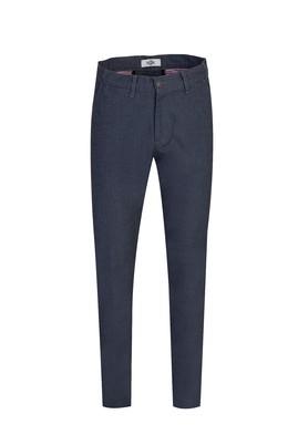 Erkek Giyim - KOYU MAVİ 46 Beden Slim Fit Desenli Spor Pantolon