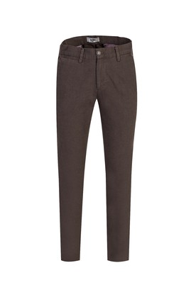 Erkek Giyim - AÇIK KAHVE 46 Beden Slim Fit Desenli Spor Pantolon
