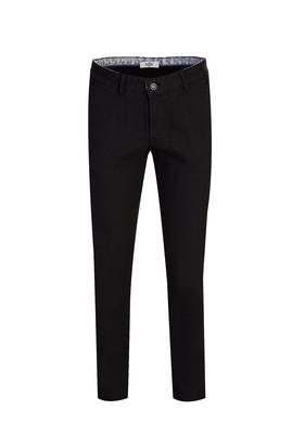 Erkek Giyim - SİYAH 46 Beden Slim Fit Desenli Spor Pantolon