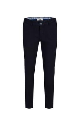 Erkek Giyim - KOYU LACİVERT 46 Beden Slim Fit Desenli Spor Pantolon