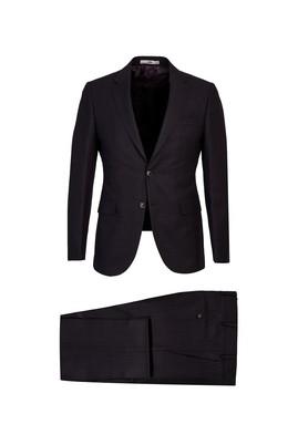Erkek Giyim - KOYU BORDO 54 Beden Slim Fit Kuşgözü Takım Elbise