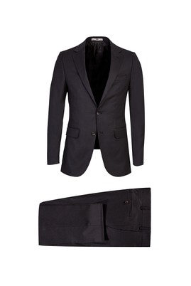 Erkek Giyim - ORTA KAHVE 52 Beden Kuşgözü Klasik Takım Elbise