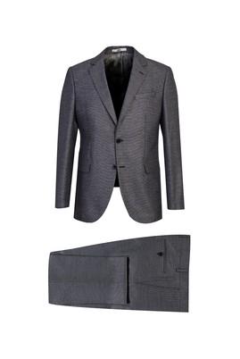 Erkek Giyim - ORTA GRİ 62 Beden Kuşgözü Klasik Takım Elbise