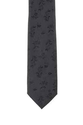 Erkek Giyim - SİYAH 70 Beden Desenli Kravat