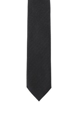 Erkek Giyim - SİYAH 165 Beden Desenli Kravat