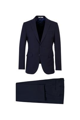 Erkek Giyim - KOYU LACİVERT 44 Beden Slim Fit Antibakteriyel Takım Elbise