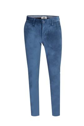 Erkek Giyim - AÇIK MAVİ 46 Beden Kadife Pantolon