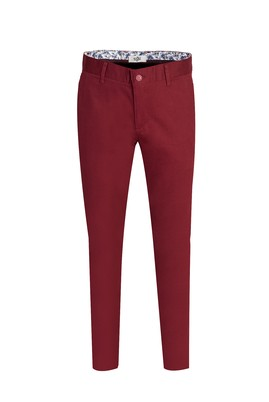 Erkek Giyim - ŞARAP BORDO 48 Beden Spor Pantolon