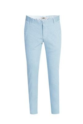 Erkek Giyim - AÇIK MAVİ 46 Beden Slim Fit Kuşgözü Spor Pantolon