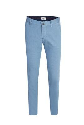 Erkek Giyim - AÇIK MAVİ 46 Beden Slim Fit Desenli Spor Pantolon