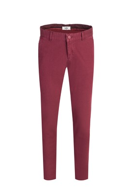 Erkek Giyim - AÇIK BORDO 46 Beden Slim Fit Desenli Spor Pantolon
