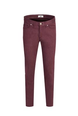 Erkek Giyim - AÇIK BORDO 46 Beden Denim Pantolon