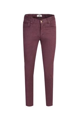 Erkek Giyim - ŞARAP BORDO 46 Beden Denim Pantolon