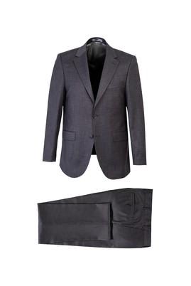 Erkek Giyim - ORTA FÜME 48 Beden Kuşgözü Klasik Takım Elbise