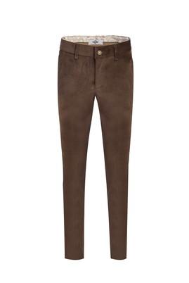 Erkek Giyim - AÇIK KAHVE 48 Beden Kadife Pantolon