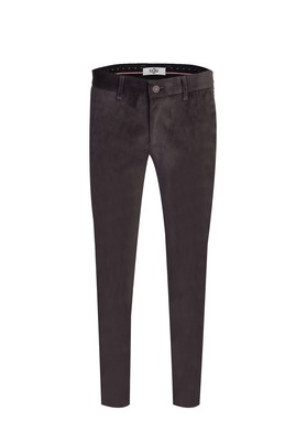 Erkek Giyim - ORTA ANTRASİT 46 Beden Kadife Pantolon