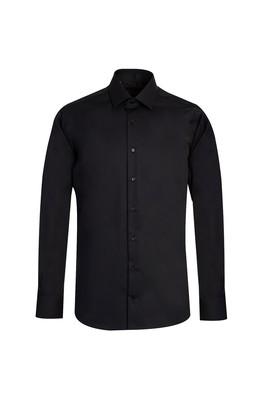 Erkek Giyim - SİYAH L Beden Uzun Kol Non Iron Slim Fit Gömlek