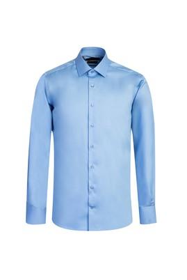 Erkek Giyim - AQUA MAVİSİ L Beden Uzun Kol Non Iron Slim Fit Gömlek