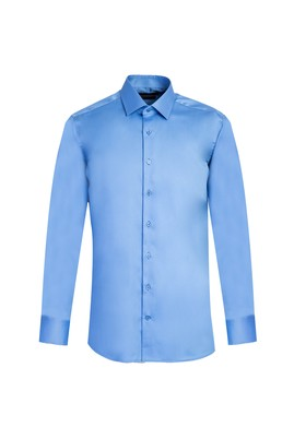 Erkek Giyim - KOYU MAVİ XS Beden Uzun Kol Non Iron Slim Fit Gömlek