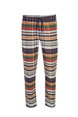 Erkek Giyim - ORTA BEJ L Beden Ekose Flanel Pijama Altı