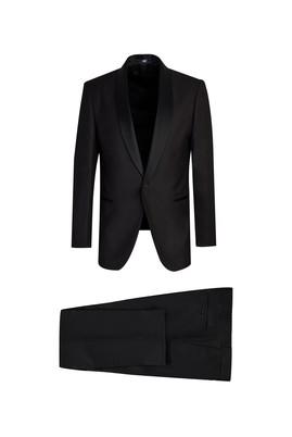 Erkek Giyim - SİYAH 46 Beden Slim Fit Şal Yaka Smokin / Damatlık