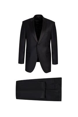 Erkek Giyim - SİYAH 46 Beden Klasik Mono Yaka Smokin / Damatlık