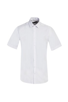 Erkek Giyim - BEYAZ L Beden Kısa Kol Regular Fit Gömlek