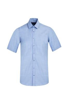 Erkek Giyim - AÇIK MAVİ M Beden Kısa Kol Regular Fit Gömlek