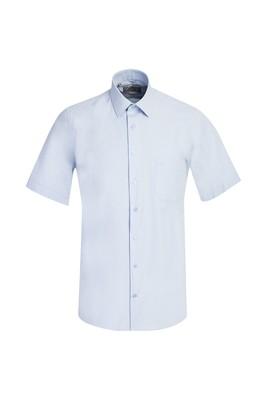 Erkek Giyim - UÇUK MAVİ 3X Beden Kısa Kol Regular Fit Gömlek
