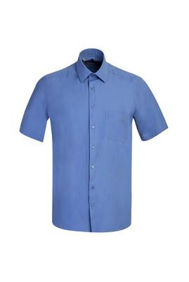 Erkek Giyim - MAVİ 4X Beden Kısa Kol Regular Fit Gömlek