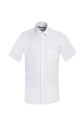 Erkek Giyim - BEYAZ M Beden Kısa Kol Regular Fit Gömlek
