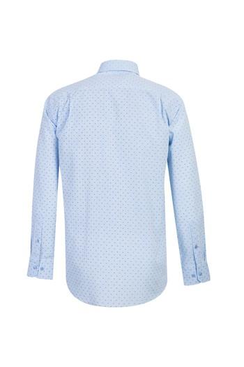 Erkek Giyim - Uzun Kol Regular Fit Desenli Gömlek
