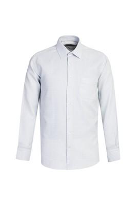 Erkek Giyim - AÇIK LACİVERT L Beden Uzun Kol Desenli Gömlek