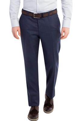 Erkek Giyim - PETROL 56 Beden Yünlü Flanel Pantolon