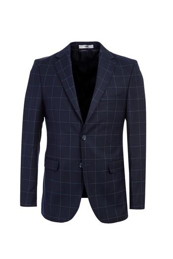 Erkek Giyim - Regular Fit Kareli Takım Elbise