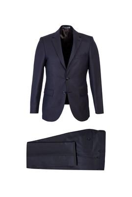 Erkek Giyim - KOYU BORDO 48 Beden Kuşgözü Slim Fit Takım Elbise