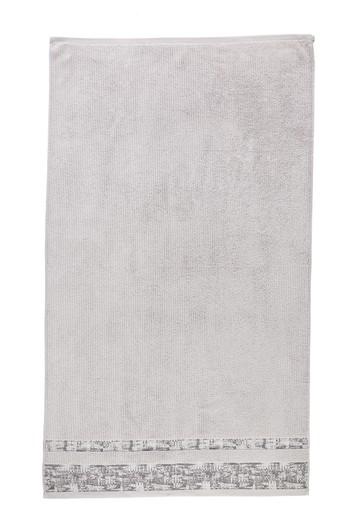 Erkek Giyim - Bordürlü Jakarlı Banyo Havlusu (90x150)