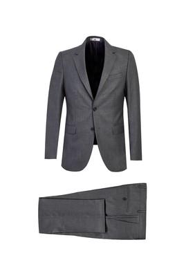 Erkek Giyim - ORTA FÜME 64 Beden Klasik Takım Elbise
