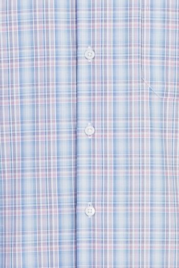 Erkek Giyim - Kısa Kol Regular Fit Ekose Gömlek