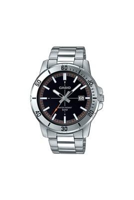 Erkek Giyim - ORTA GRİ  Beden Casio Erkek Kol Saati Çelik Gümüş MTP-VD01D-1E2VUDF