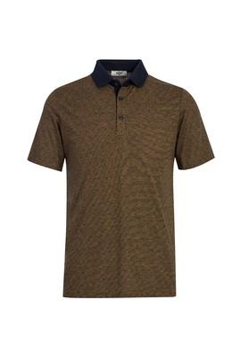 Erkek Giyim - BAL KABAĞI 3X Beden Polo Yaka Desenli Regular Fit Tişört
