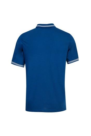 Erkek Giyim - Polo Yaka Desenli Regular Fit Tişört