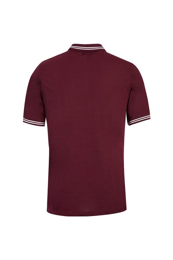 Polo Yaka Regular Fit Desenli Tişört