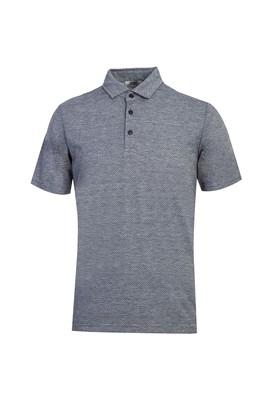 Erkek Giyim - KOYU LACİVERT L Beden Polo Yaka Desenli Regular Fit Tişört